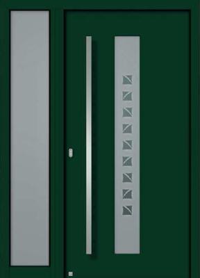 Haustür holz grün  Haustüren (Aluminium / Holz / Holz-Aluminium) - Exklusiv 4 ...